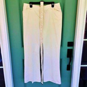 Liz Claiborne Pants/Belt Sloane Light Tan Size 14